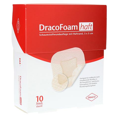 DRACOFOAM Haft Schaumstoff Wundaufl.5x5 cm 10 Stück