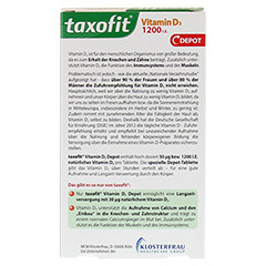 TAXOFIT Vitamin D3 1200 I.E. Depot Tabletten 45 Stück - Rückseite