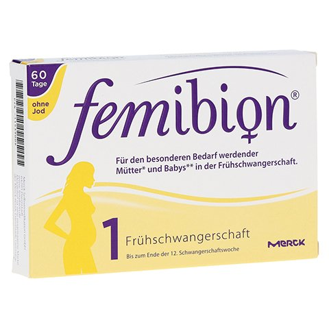 FEMIBION Schwangerschaft 1 D3+800 µg Folat o.Jod 60 Stück
