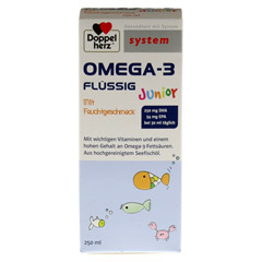 DOPPELHERZ Omega-3 Junior flüssig system 250 Milliliter - Vorderseite