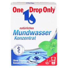 ONE DROP Only nat�rl.Mundwasser Konzentrat 25 Milliliter - Vorderseite