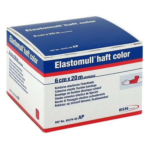 ELASTOMULL haft color 6 cmx20 m Fixierb.rot 1 St�ck