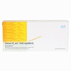 CALCIUM D3 acis 1000 mg/880 I.E. Brausetabletten 40 St�ck - Vorderseite