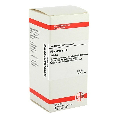 PHYTOLACCA D 6 Tabletten 200 Stück N2