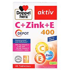 DOPPELHERZ C+Zink+E Depot Tabletten 40 Stück - Vorderseite