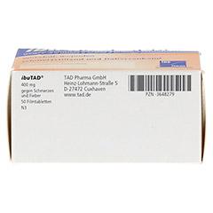 IbuTAD 400mg gegen Schmerzen und Fieber 50 Stück N3 - Unterseite