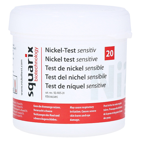 NICKEL Test sensitiv 20 St�ck
