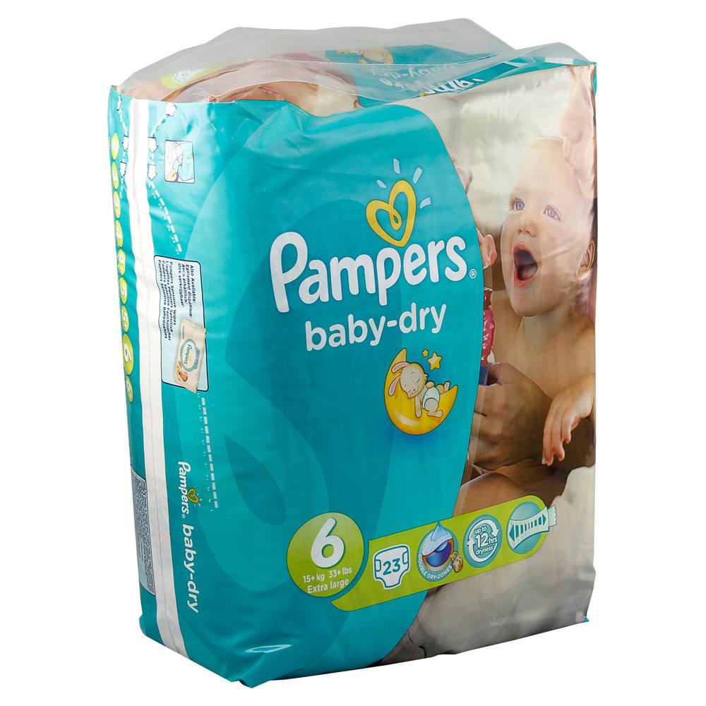 pampers baby dry gr 6 extra large 16 kg sparpack 23 st ck. Black Bedroom Furniture Sets. Home Design Ideas
