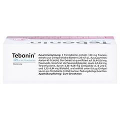 Tebonin 120mg bei Ohrger�uschen 120 St�ck N3 - Oberseite