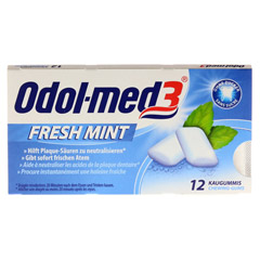 Odol-med 3 Fresh Mint Kaugummi 12 Stück - Vorderseite