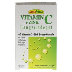 VITAMIN C+Zink Depot Kapseln 60 Stück - Vorderseite