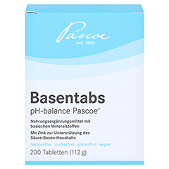 BASENTABS pH Balance Pascoe Tabletten 200 Stück - Vorderseite