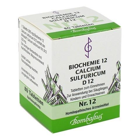 BIOCHEMIE 12 Calcium sulfuricum D 12 Tabletten 80 Stück N1