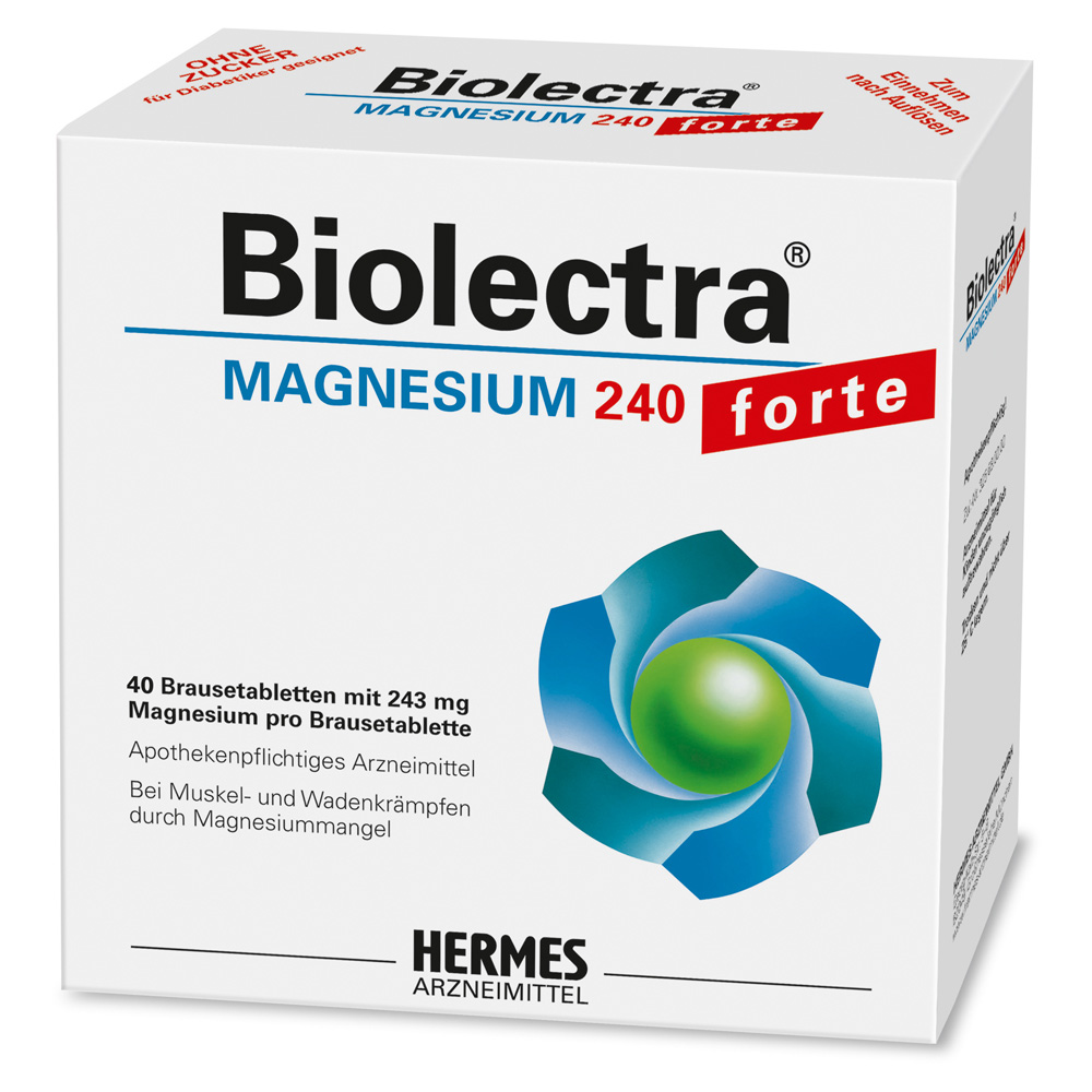 biolectra magnesium 240 forte brausetabletten 40 st ck online bestellen medpex versandapotheke. Black Bedroom Furniture Sets. Home Design Ideas