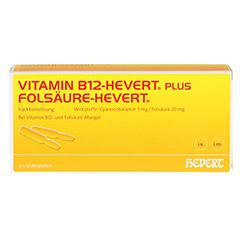 Vitamin B12 Folsäure Hevert Amp.-Paare 2x10 Stück N2 - Vorderseite