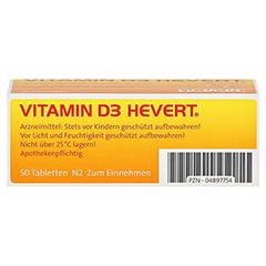 VITAMIN D3 Hevert Tabletten 50 Stück N2 - Unterseite