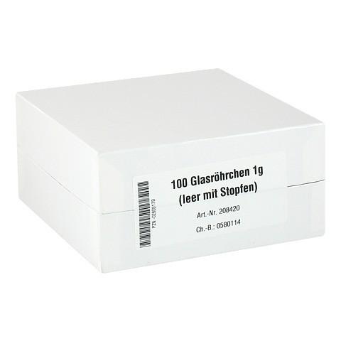 GLASRÖHRCHEN f.Taschenapotheke 100 Stück