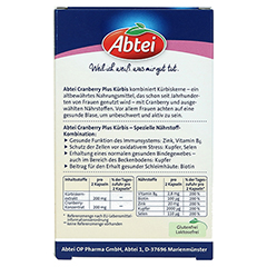 ABTEI Cranberry + Kürbis Plus (Femina) 30 Stück - Rückseite