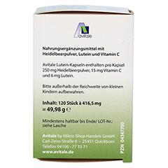 LUTEIN Kapseln 6 mg+Heidelbeer 120 St�ck - Rechte Seite