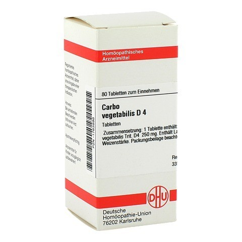 CARBO VEGETABILIS D 4 Tabletten 80 Stück N1