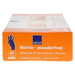 NITRIL Unt.Handschuhe unster.puderfrei Gr.M blau 100 St�ck - Linke Seite