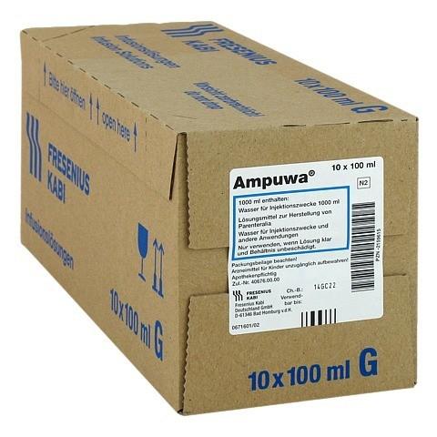 AMPUWA Glasflasche Injektions-/Infusionslösung 10x100 Milliliter N2