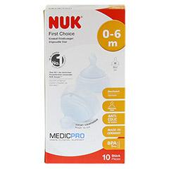 NUK First Choice Einmal-Trinksauger TPE 0-6 Mon./M 10 Stück - Vorderseite