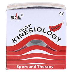 NASARA Kinesiologie Tape 5 cmx5 m rot 1 Stück - Rückseite