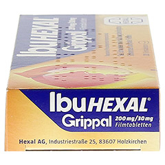 IBUHEXAL Grippal 200 mg/30 mg Filmtabletten 20 Stück N1 - Rechte Seite