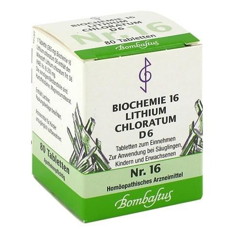 BIOCHEMIE 16 Lithium chloratum D 6 Tabletten 80 Stück N1