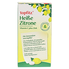 TOPFITZ heiße Zitrone Trinktabletten 10 Stück - Rückseite