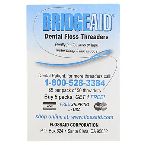 BRIDGE Aid Zahnseideneinfädler 10 Stück