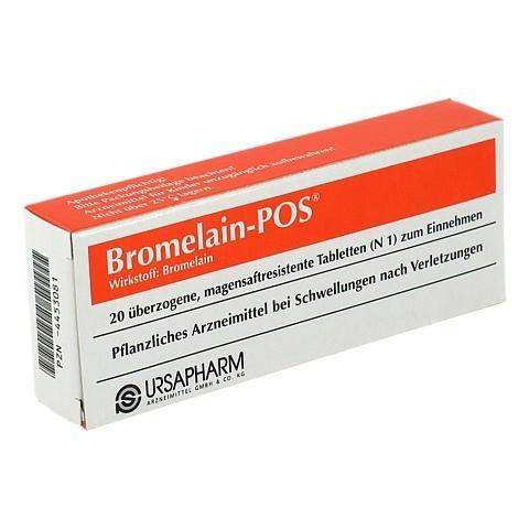 BROMELAIN POS magensaftresistente Tabletten 20 Stück N1