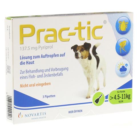PRAC tic f.kleine Hunde 4,5-11 kg Einzeldosispip. 3 Stück
