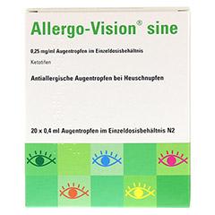 Allergo-Vision sine 0,25mg/ml Augentropfen 20x0.4 Milliliter N2 - Vorderseite