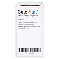 GELOVITAL Nahrungsergänzungsmittel Lebertran Kaps. 100 Stück - Linke Seite