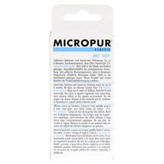MICROPUR Classic MC 10T Tabletten 40 Stück - Rückseite