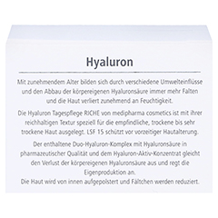 HYALURON Tagespflege riche Creme LSF 15 50 Milliliter - Rückseite