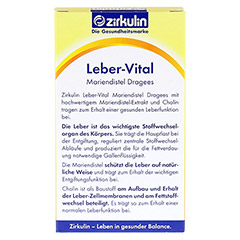 ZIRKULIN Leber-Vital Mariendistel Dragees 60 St�ck - R�ckseite