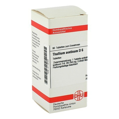 THALLIUM ACETICUM D 6 Tabletten 80 Stück N1
