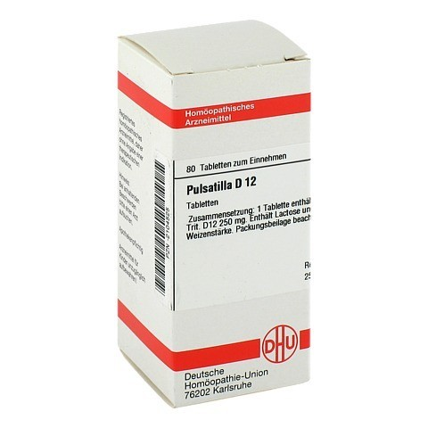 PULSATILLA D 12 Tabletten 80 Stück N1
