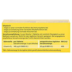 DEKRISTOLVIT D3 5.600 I.E. Tabletten 60 Stück - Rückseite