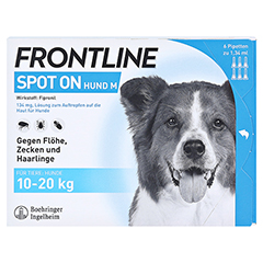 FRONTLINE Spot on H 20 L�sung f.Hunde 6 St�ck - Vorderseite