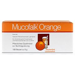 Mucofalk Orange Beutel 100 Stück - Vorderseite