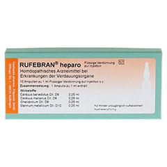 RUFEBRAN heparo Ampullen 10 Stück N1 - Vorderseite