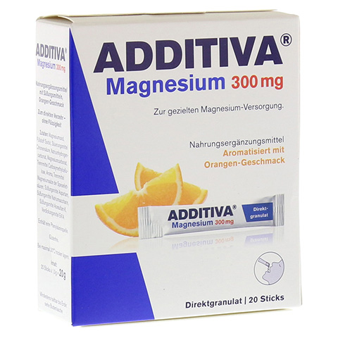 ADDITIVA Magnesium 300 mg Sticks Orange N 20 Stück
