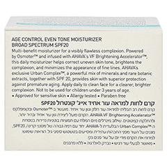 Ahava Age Control Even Tone Moisturizer Broad Spectrum SPF 20 50 Milliliter - R�ckseite