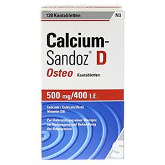 CALCIUM SANDOZ D Osteo Kautabletten + gratis Wirbelsäulengymnastik-Buch Calcium-Sandoz 120 Stück N3 - Vorderseite