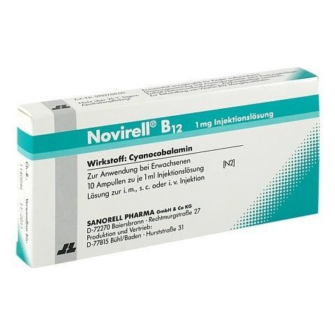 Novirell B12 1 mg Injektionslösung 10x1 Milliliter N2