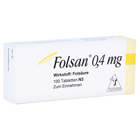 FOLSAN 0,4 mg Tabletten 100 St�ck N3